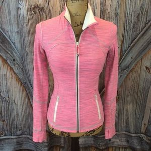 Lululemon pink and gray zip front jacket